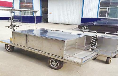 米饭托盘式平板送饭车